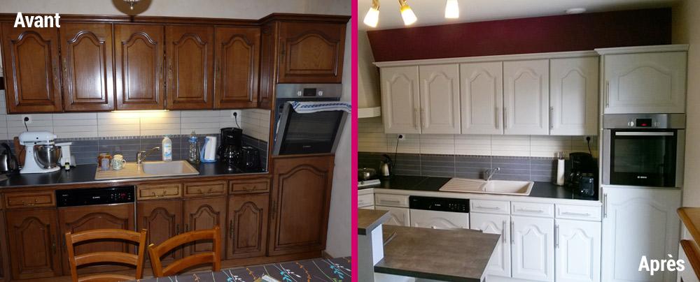R novation et relooking de cuisine ch teaubriant atelier aux couleurs - Relooking meuble cuisine ...