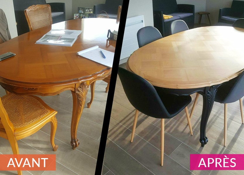 Relooking table AVANT/APRES